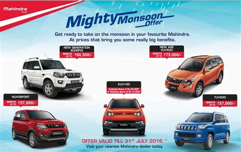 mahindra car exchange offer mahindra offering benefits up to rs 57 000 on nuvosport