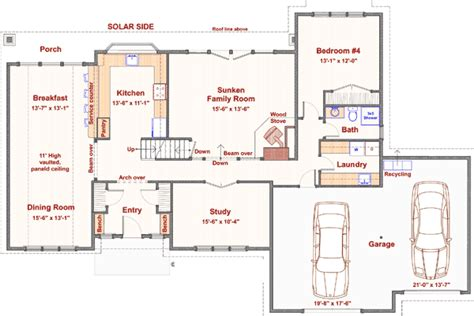 passive solar house plans by lohzat on deviantart 4 bedroom with passive solar design 16506ar