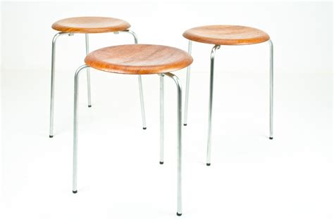 Arne Jacobsen Dot Stool by Arne Jacobsen Dot Stools Tripod Flatland Design