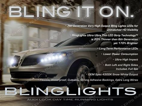 lincoln running time lincoln mkt led drl l light strips day time