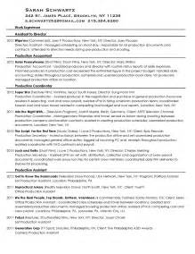 Television Production Assistant Sle Resume by Lowndes Resume Images Frompo
