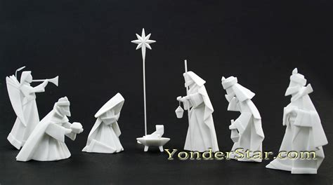 porcelain origami nativity 14 pcs