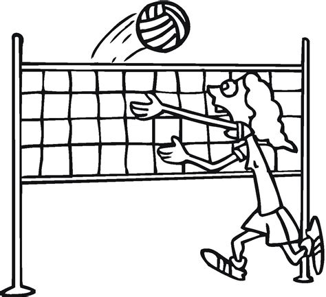 cartoon volleyball coloring page free printable volleyball coloring pages for kids