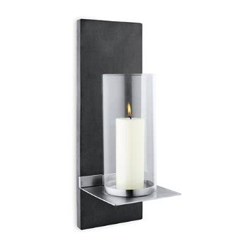 edelstahl kerzenhalter wand finca wall candle holder by blomus at lumens