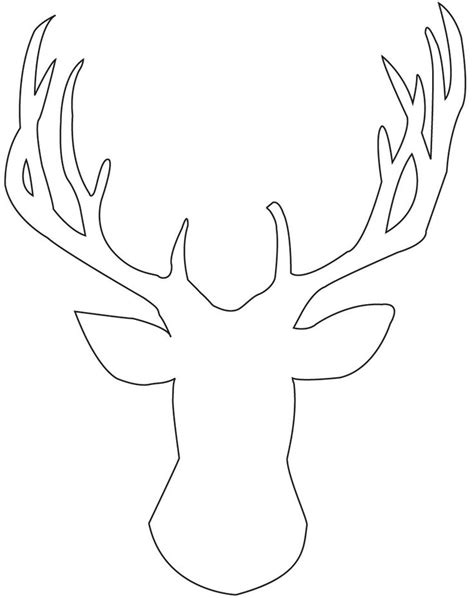 reindeer head template printable christmas pinterest