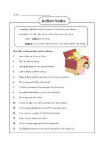 action verb worksheet for 2nd grade verbs worksheets