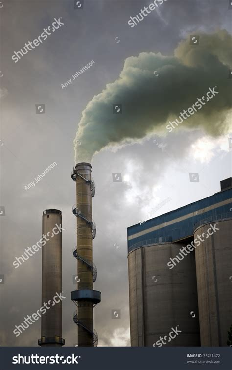 Smoke Comes Out Of Fireplace by Smoke Coming Out Of A Chimney Stock Photo 35721472
