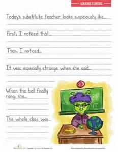 sentence prompts for kids worksheet education com