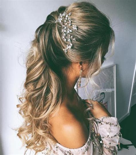 Simple Wedding Hairstyles half up half wedding hairstyles 50 stylish ideas