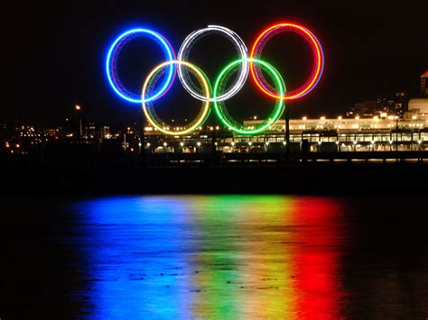 olympic rings  flame represent