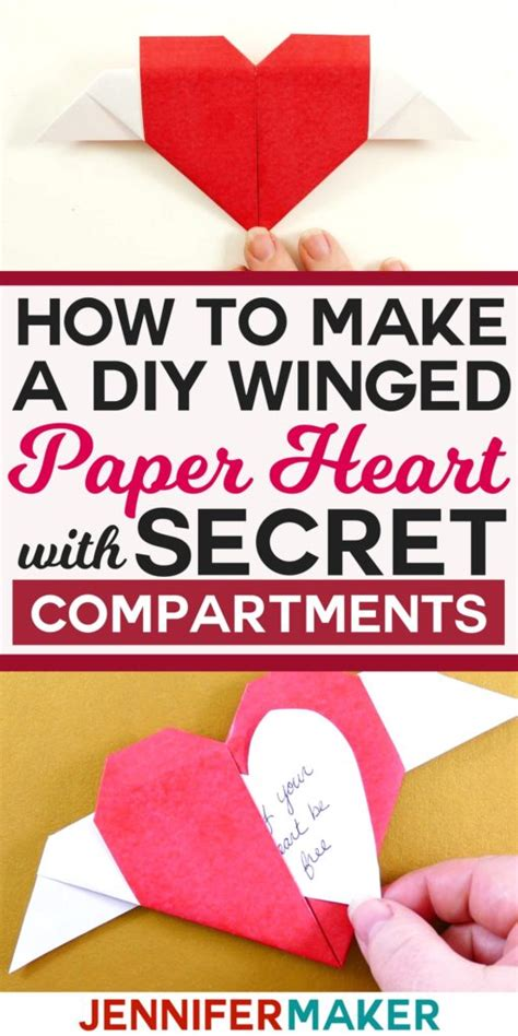 How To Make A Secret Message On Paper - diy paper winged with message maker