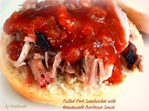 a feast for the eyes pulled pork sandwiches homemade bbq sauce the whole works