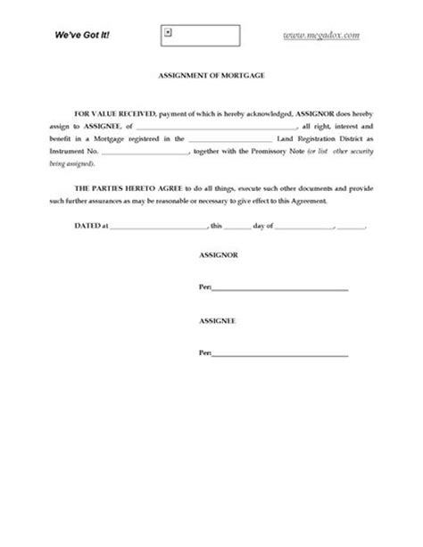 assignment of mortgage template alberta assignment of mortgage forms and business