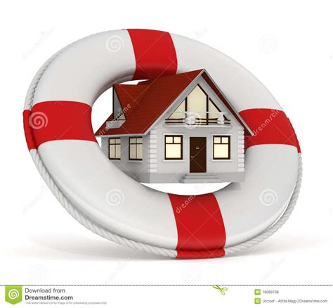 no house insurance house insurance lifebuoy royalty free stock photos image 16089708