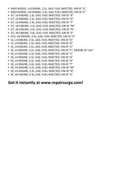 how to download repair manuals 1990 pontiac grand prix instrument cluster pontiac grand am repair manual 1990 2005