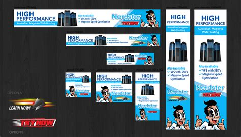 banner ad layout playful colorful google banner ad design for nerdster by