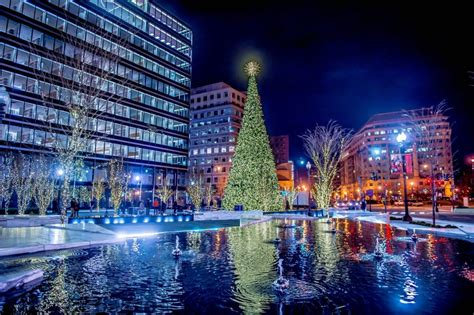 third annual citycenterdc holiday tree lighting is