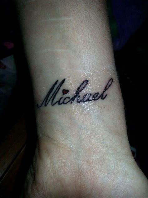 husband name tattoos my husband s name michael on my wrist tattoos