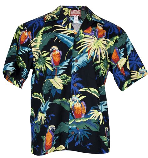 hawaiian shirt paradise parrots mens hawaiian aloha shirt in black mens hawaiian shirts clothing