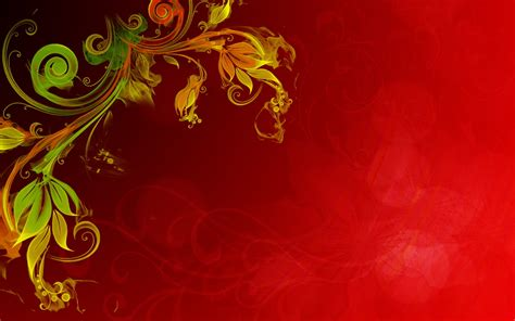 floral vector red background hd wallpapers13 com