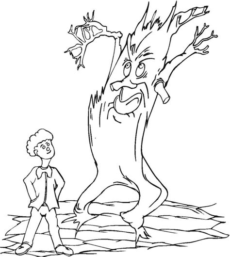 scary tree coloring page spooky tree coloring coloring pages