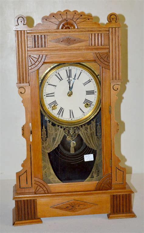 Gilbert Kitchen Clock antique oak gilbert kitchen clock t s with an unsigned pape