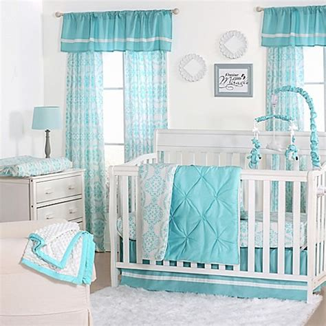 teal nursery bedding the peanut shell 174 pintucked crib bedding collection in