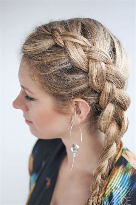 hairstyles braids to the side dutch side braid hairstyle tutorial hair romance