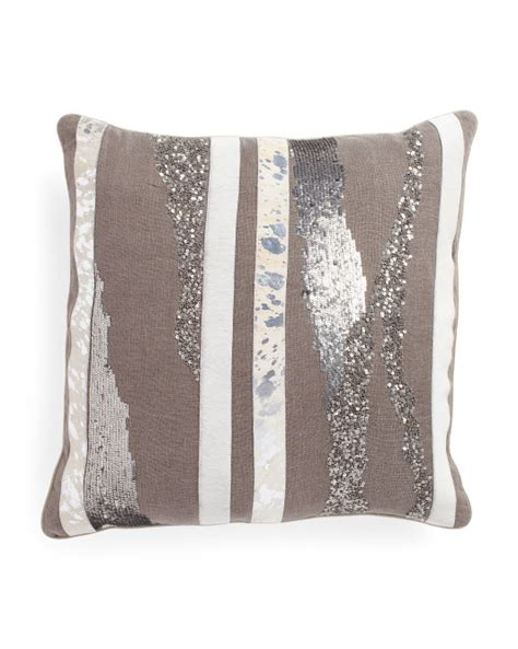 22x22 cow hide applique pillow throw pillows t j maxx