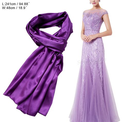 wedding satin scarves bridesmaid prom shawl