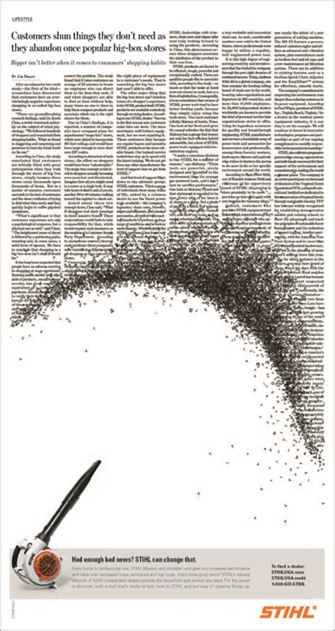 typography advertising typography stihl ads winsper with quot great seriousness quot
