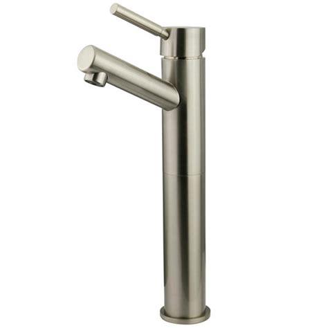 brass single handle bathroom faucet kingston brass 10 in single hole single handle high arc
