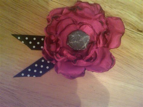 diy how to silk flower hair clip pin or corsage