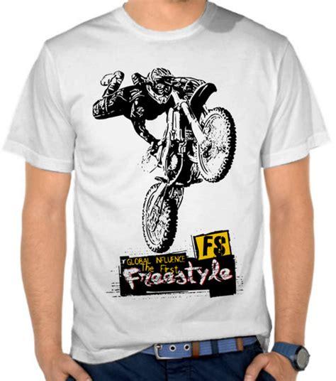 Kaos Otomotif Piaggio Logo Unisex jual kaos motor motocross freestyle fs motor