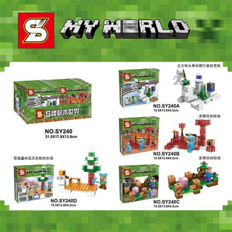 Hadiah Mainan Anak Block Lego Blocks My World 92pc Sy704a jual lego merk sy 240 my world minecraft sy240 compatible