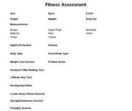 Client Assessment Form Template by Personal Trainer Forms Free Waivers And Business