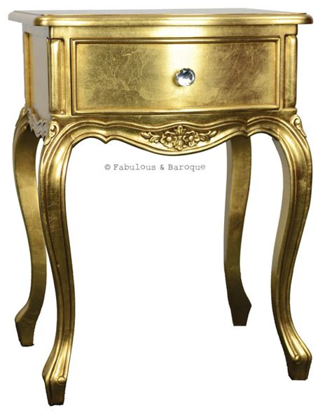 gold bedside table sabine side table gold traditional nightstands and