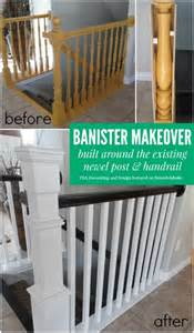 banister post remodelaholic stair banister renovation using existing