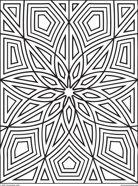 Coloring Pages Designs Patterns pattern coloring pages for adults coloring home