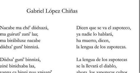 poemas en nahuatl y su traduccion zapoteco poema gabriel lopez chi 241 as didxaza