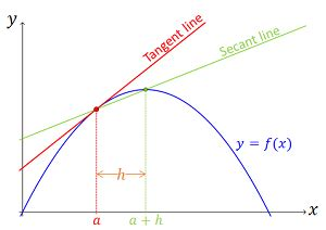 ex use the slope to secant lines to predict the slope of a