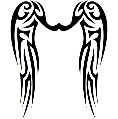 tribal angel tattoo angel tattoo tribal wings tattoos