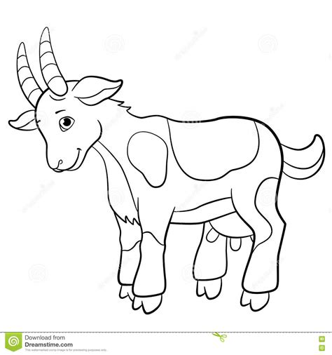 cute baby farm animals coloring page coloring pages goat animal coloring pages t8ls com