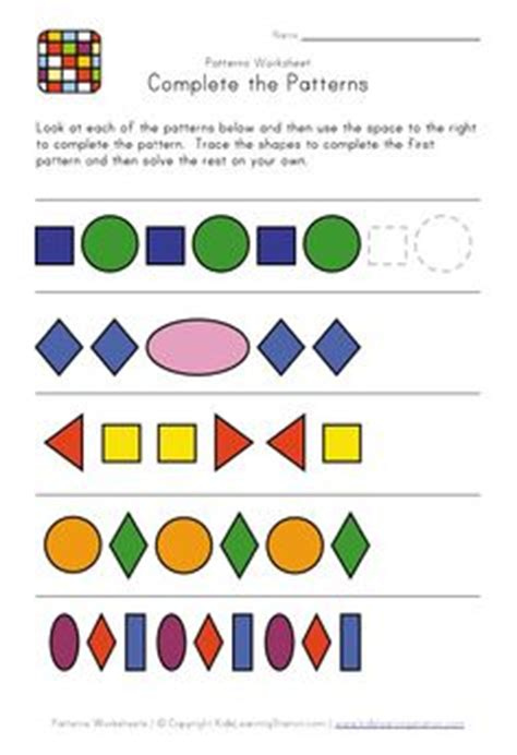 alternating pattern in math 1000 images about pattern worksheets on pinterest