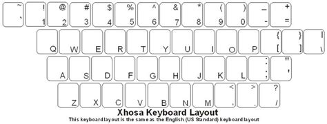keyboard layout south africa xhosa isixhosa keyboard labels dsi computer keyboards