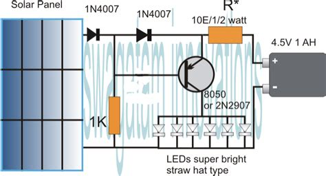 Solar Light Schematic Simplest Automatic Led Solar Light Circuit Solar Garden