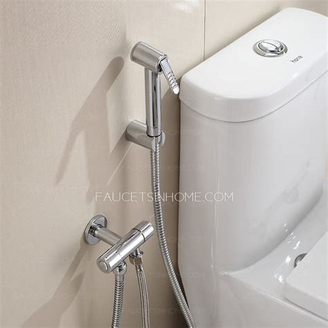 Cheap Bidet Faucet With Thick Angle Valve And Spray Gun