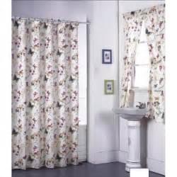 Garden flowers shower curtain set and window set 14951465
