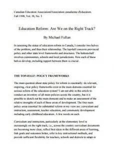 thesis statement about education reform argumentative essay on educational reform