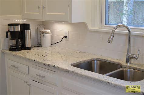 Cotton White Granite Kitchen Counter Upgrades ? Kansas